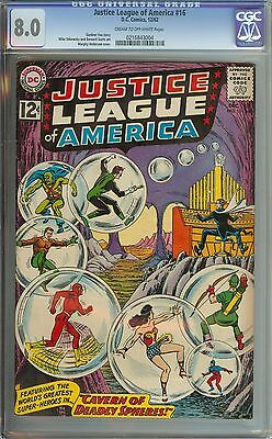 Justice League Of America #16 Cgc 8.0 Cr/ow Pages // Murphy Anderson Cover