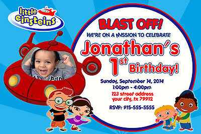 Little Einsteins Personalized Party Invitaiton - DIY