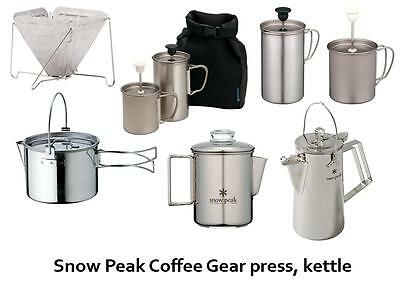 snow peak Coffee Gear Titanium, Press, Kettle and other from Japan