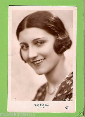 #f. Beauty Contest   Postcard - Miss Europe, France