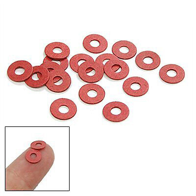 Sale!100 Pcs Practical Red Motherboard Screw Insulating Fiber Washers MH