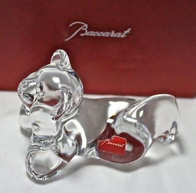 Baccarat TEDDY BEAR DREAMER figurine, double marked **BOXED**, $225 MSRP