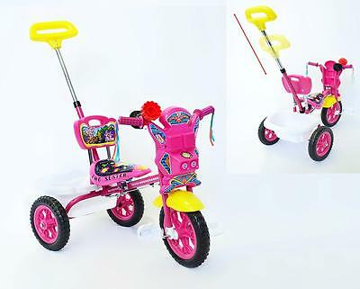 New Sturdy Safe Toddler Kid Tricycle Ride on Trike With Parental Control Push PN