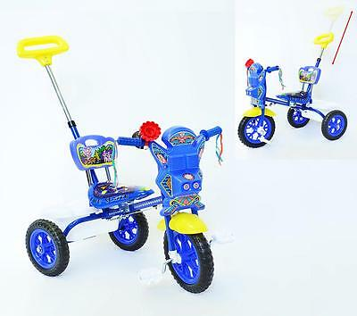 New Sturdy Safe Toddler Kid Tricycle Ride on Trike With Parental Control Push BL