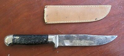 """Imperial USA Fixed Blade 4 3/4"""" Knife and sheath"""