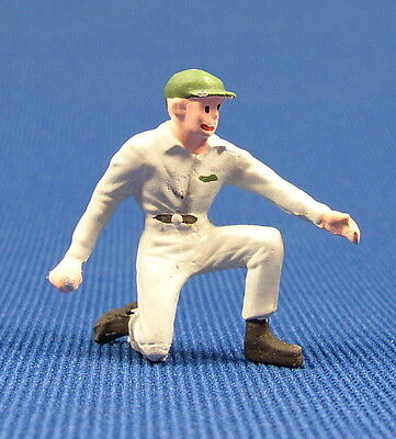 Lead Railroad Figure People Gas Station Attendant O - S Scale Nos Train Layouts