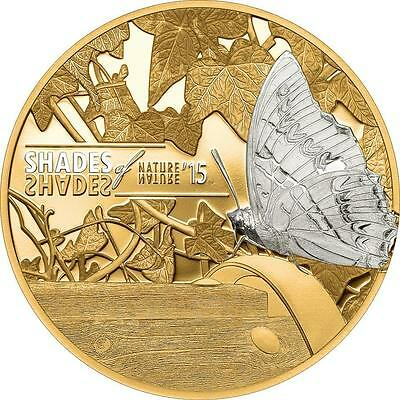 Cook Islands 2015 $5 Shades of Nature - Butterfly 25g Silver Proof Coin
