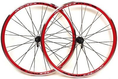 AEROMAX 700c Road Comp Red Road Bike Wheelset Clincher for Shimano/SRAM NEW
