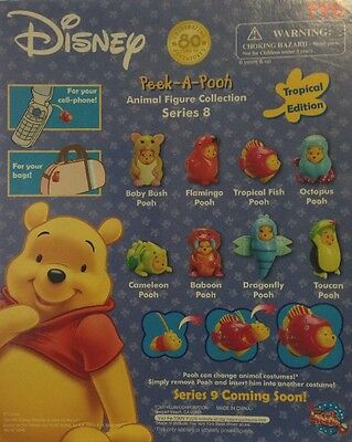 New Tomy Disney Winnie The Pooh Peek-A-Pooh Series 8 Dangler Tropical Collection