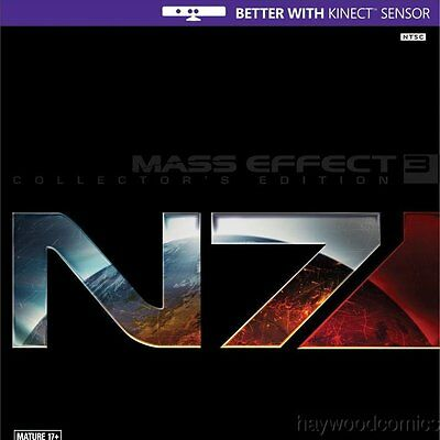 Microsoft XBox 360 Game MASS EFFECT 3: N7 COLLECTOR'S EDITION - COMPLETE!
