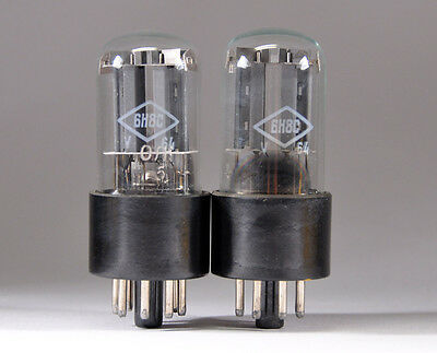 2 x 6N8S / 6SN7 / ECC32 / 6CC10 / 1578. LOT OF 2 NEW TUBES FROM 1960's FOTON