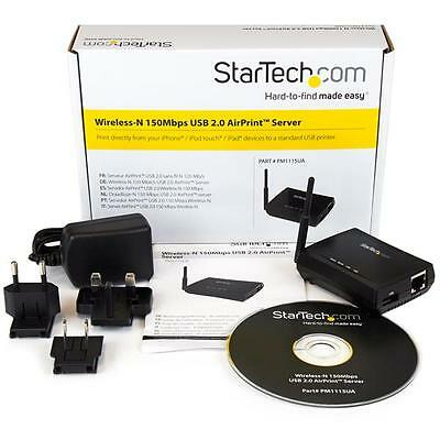 Startech PM1115UA USB Wireless-N 150Mbps AirPrint™ Server 802.11b/g/n for Apple