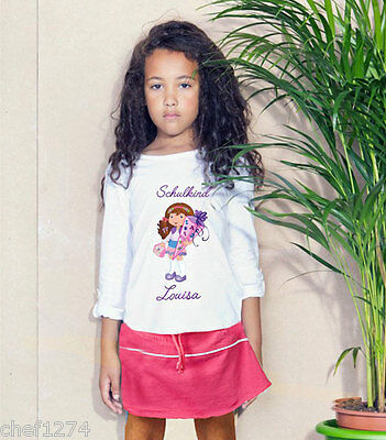 Starting School Set Long Sleeves with Skirt Name Kid Two Parts Child