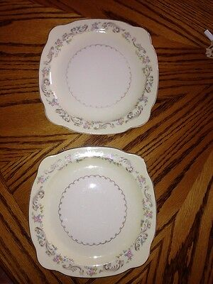 VINTAGE PADEN CITY POTTERY SALAD PLATE ROSES GOLD ACCENTS, Set Of 2