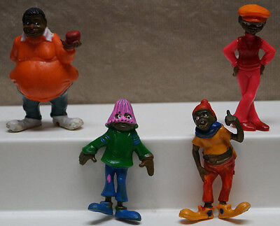 4 Vintage Chemtoy Fat Albert & The Cosby Kids Tv Show Cartoon Character Figures