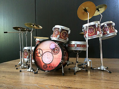 Neil Peart Time Machine  Miniature Drum Set  - FREE Shipping within US