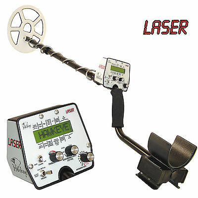 Laser Hawkeye Metal Detector with Accessories - Switch On and Go with Meter