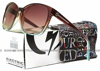 NEW Electric Rosette Sunglasses-Brown Mint Fade-Brown Gradient-SAME DAY SHIPPING