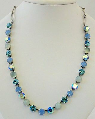 Mariana Diana Necklace NWT Aquamarine  Air Blue Opal Sand Opal Swaroski Crystals