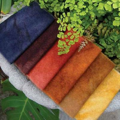 """6-Pack Bundle hand-dyed wool from WoolyLady  Good Earth 6"""" x 16"""""""