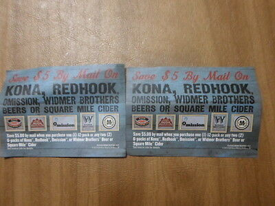 2-KONA,REDHOOK $5  BEER REBATE WHEN YOU BUY 1 --12PACK OR 2--6PACKS