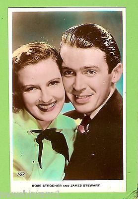 #F.  Movie Fan  Postcard -  Rose Strodner & James Stewart