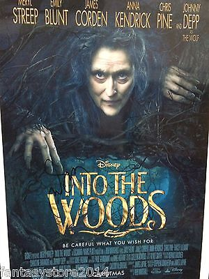 Meryl Streep Witch SIGNED Autograph COA Into The Woods Photo Evil Wear Prada