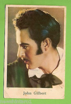 #F.  1927  Movie Fan  Card - John Gilbert, Girls' Friend Magazine