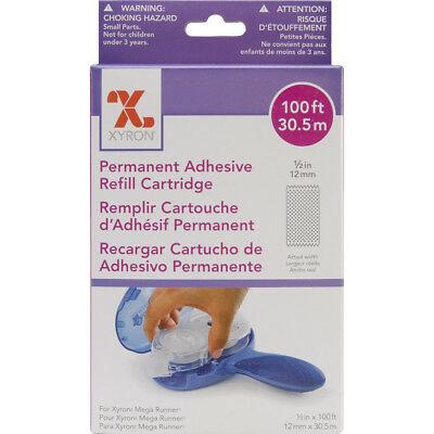 "Xyron Mega Runner Permanent Adhesive Refill-.5""X100', For Use In 0701 Or 100049"