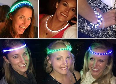 Lot Of 3 Glowby Bandz Ultra Bright Led Strips Burning Man Parties Raves Holidays