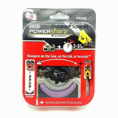 """14"""" PowerSharp Chainsaw Chain & Sharpening Stone Will Fit Stihl Saws Listed"""