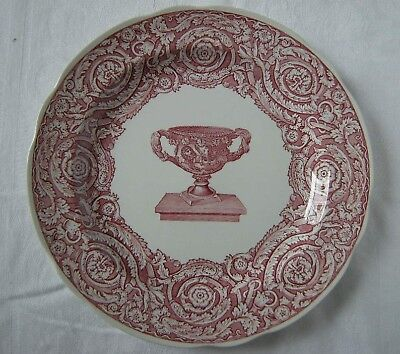 SPODE Victorian Collection Plate WARWICK VASE pink