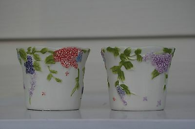 """Yankee Candle """"Flower"""" Votive Holders  Set of 2   New"""