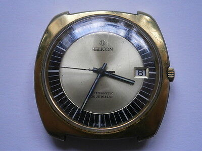Vintage gents wristwatch HELICON automatic watch spares or repair swiss made