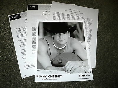 KENNY CHESNEY No Shoes No Shirt No Problems Press Kit With 8x10 Photo