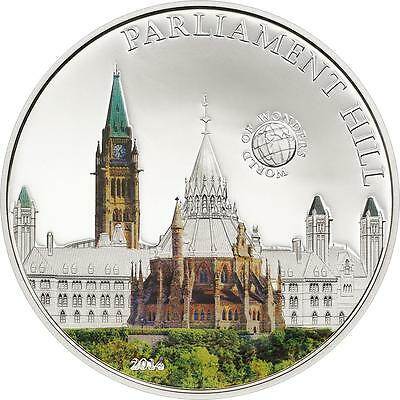 Palau 2014 $5 World of Wonders VIII Parliament Hill Canada 20g Silver Proof Coin