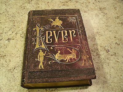 Very Rare Antique 1880 Book The Works of Charles Lever Illustrated Collier