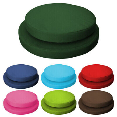 Water Resistant Round Cushion Pads ONLY Bistro Garden Dining Chair Outdoor Packs