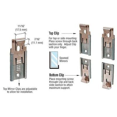 Crl Nickel Plated Adjule Mirraco Mirror Clip Set For 3 8 Seamed