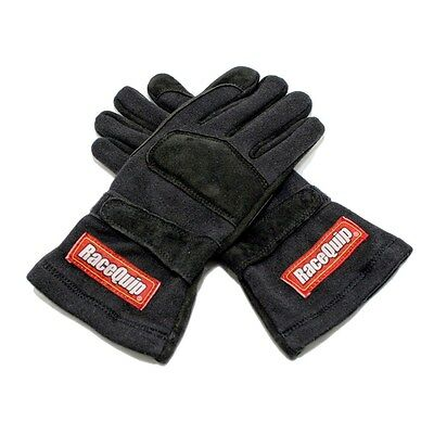 RaceQuip 355007 2X-Large Double Layer Black Auto Racing Driving Gloves Nomex SFI