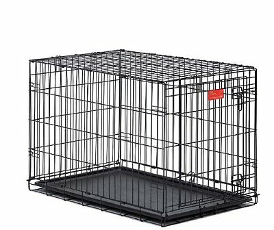 Dog Crate Large Single-Door Folding Metal 42 x 28 x 31 Inches * Free Shipping *