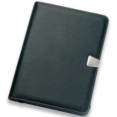 New A4 Leather Compendium made from soft polished Nappa Genuine Leather fast del