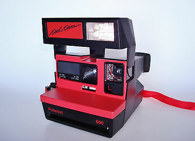 WORKING Polaroid COOL CAM Red/Black 600 Film Instant Camera. Made in the U.K.