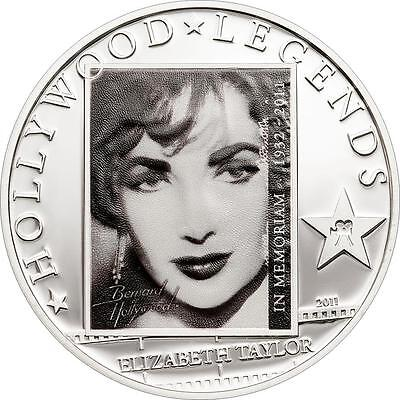 Cook Islands 2011 $5 Elizabeth Liz Taylor in Memoriam 25g Silver Proof Coin