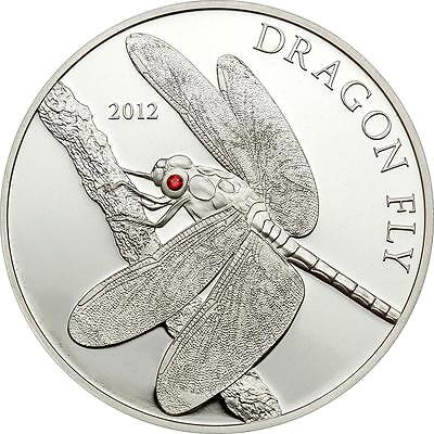 Tokelau 2012 $5 Dragon Fly 25g Silver Proof Coin