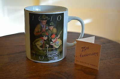 NEW Boy Scouts Scout 75th Anniversary Porcelain Coffee Mug Cup Joseph Csatari