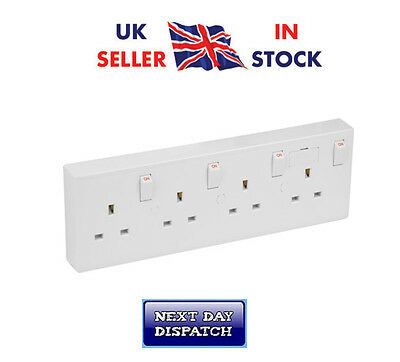 Socket Converter,Convert Wall Sockets 12 Gang Sockets to 4 Gang Wall Socket