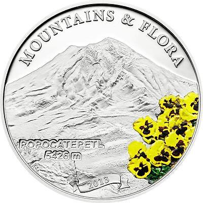 Palau 2013 $5 Mountains & Flora 2013 Popocatepetl Mexico 20g Silver Proof Coin