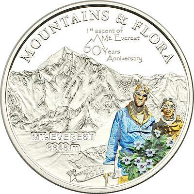 Palau 2013 Mountains & Flora 2013 1st Ascent of Mount Everest Silver Proof Coin