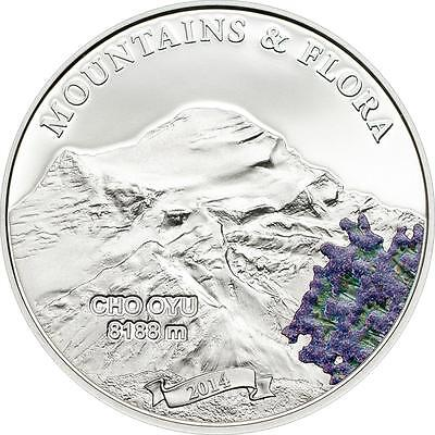 Palau 2014 $5 Mountains and Flora 2014 II Cho Oyu Himalaya 20g Silver Proof Coin